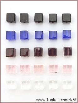 1 glasw rfel mix kalte farben ca 6mm bunt sortierung nach farben perlen. Black Bedroom Furniture Sets. Home Design Ideas